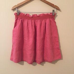 Wilfred Aritzia   Linen-Blend A-Line Skirt